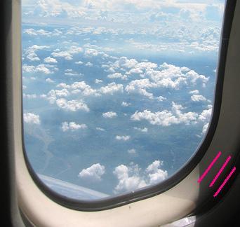 Post 114-aiplane window