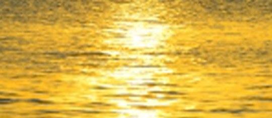 sun on the water