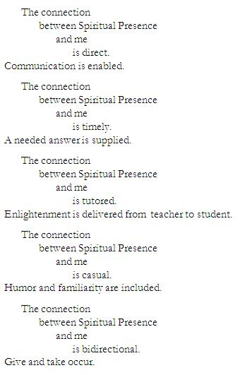 Poem-Connection with Spiritual Presence