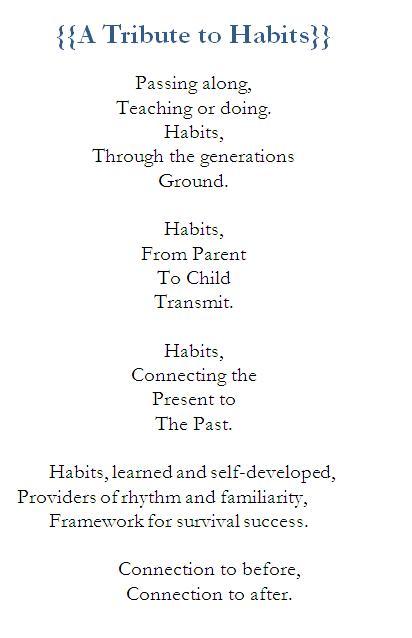 Poem-habits