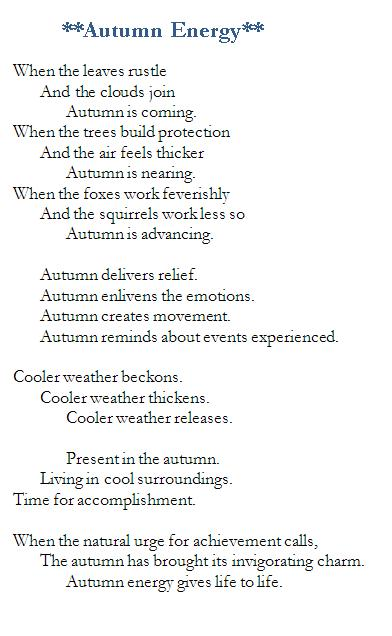 Poem-Autumn Energy