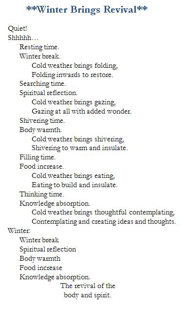 Poem-Winter Revival