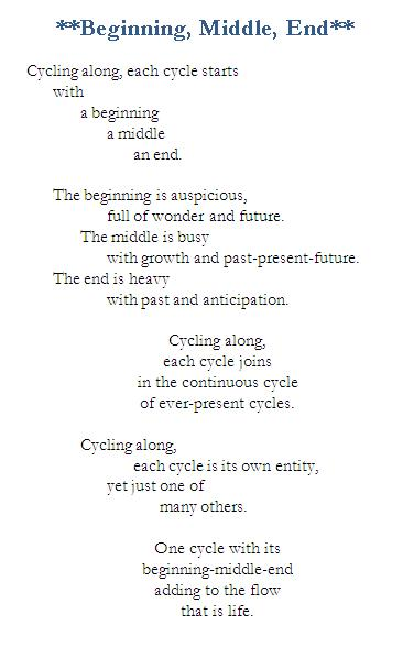 Poem-Beginning Middle End