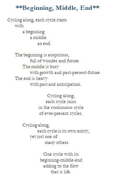 Poem-Beginning Middle End