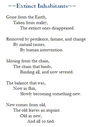Poem-Extinct Inhabitants