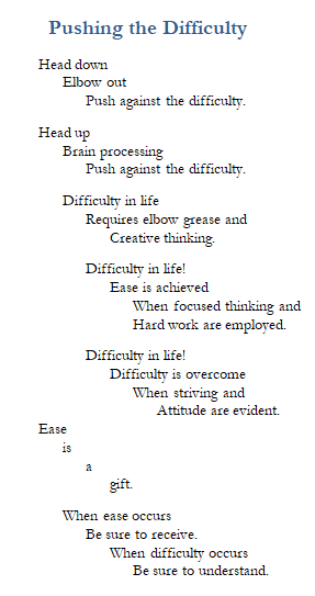 Poem-Pushing the Difficulty