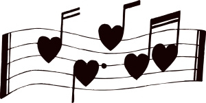 Heart Musical Notes